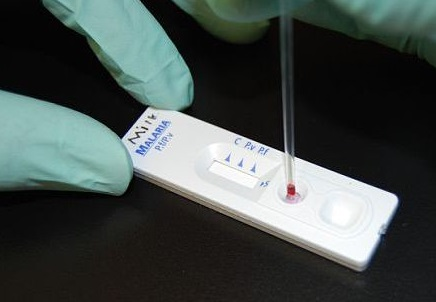 Malaria rapid diagnostic test. Image courtesy of CDC Global.